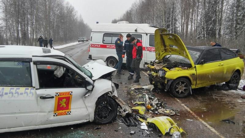 ВРжевском районе случилось ДТП спострадавшими