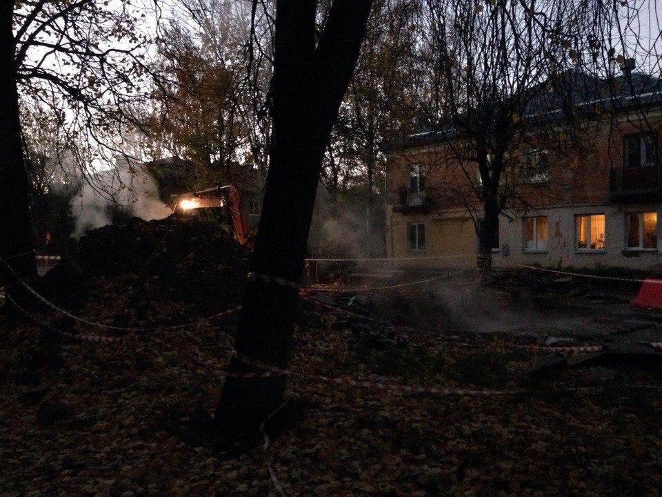 ВЗаволжском районе Твери произошёл прорыв теплотрассы